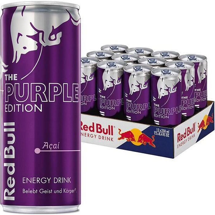 Red Bull Energy Drink The Purple Edition Acai 0,25l (Pack de 12)