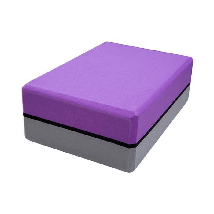 SURENHAP EVA Bloquer Brique de Yoga Bloc Mousse NonToxique Pilates 200gViolet + gris