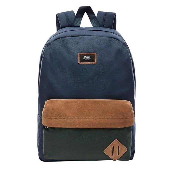 Vans Old Skool II Backpack Sac à Dos Loisir, 39 cm, 22 liters, Multicolore (Dress Blues-Darkest Spruce)