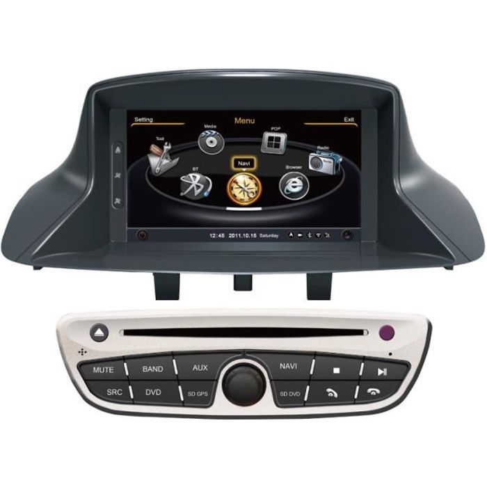 autoradio dvd gps navigation renault megane 3 achat vente autoradio autoradio dvd gps. Black Bedroom Furniture Sets. Home Design Ideas