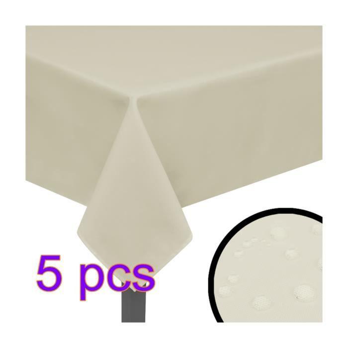 Taches résistantes à des nappes tache Protection Lavable XV Crème 1 nappe ovale