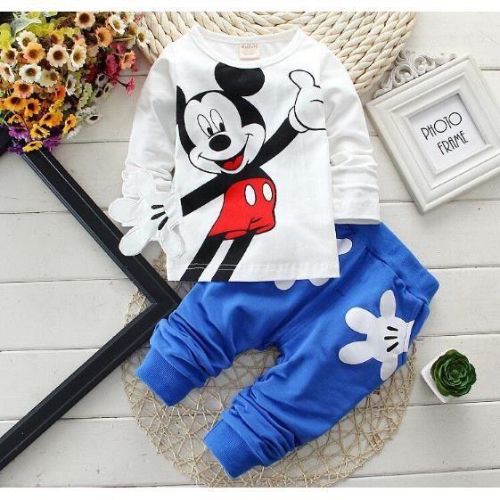 Ensemble de vêtements lot de 10, Mickey ensemble vêtement d'enfant 2 piè