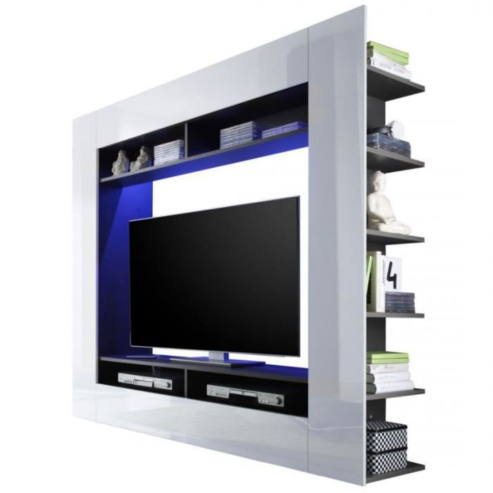 blanche tv white gold. Black Bedroom Furniture Sets. Home Design Ideas