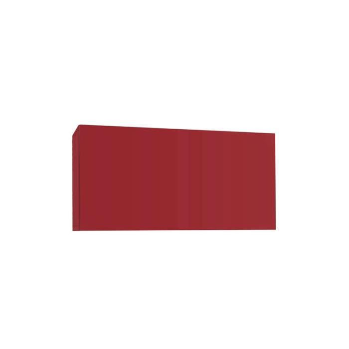 Meuble tv mural design horizontal up s rouge achat for Meuble horizontal mural
