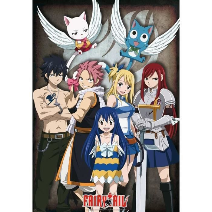 Poster fairy tail personnages natsu dragonil lucy - Image de fairy tail natsu ...