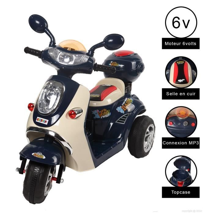 cristom vespa moto electrique 6 volts mp3 3662293006885. Black Bedroom Furniture Sets. Home Design Ideas