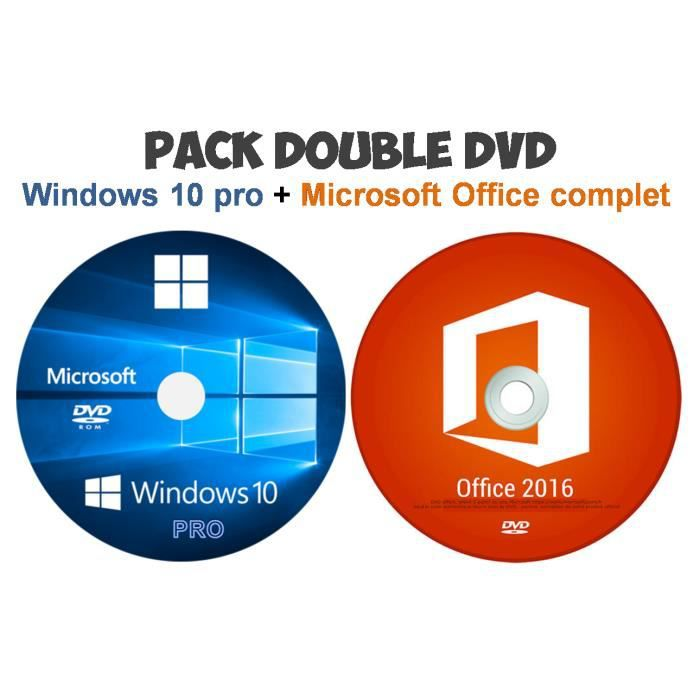 windows 10 pro dvd pack office dvd prix pas cher cdiscount. Black Bedroom Furniture Sets. Home Design Ideas