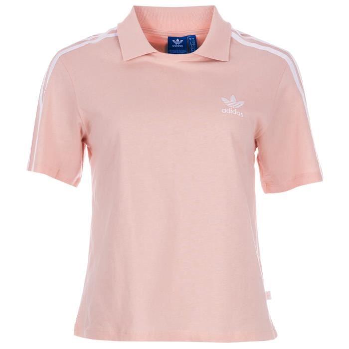 T Shirt Polo pour Femme Rose Achat Vente t shirt Cdiscount