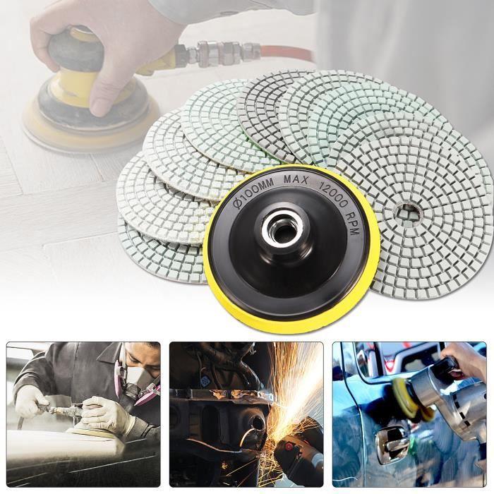 Bosch Éponge de polissage pour meule ponceuse meuleuse Velcro 130 mm