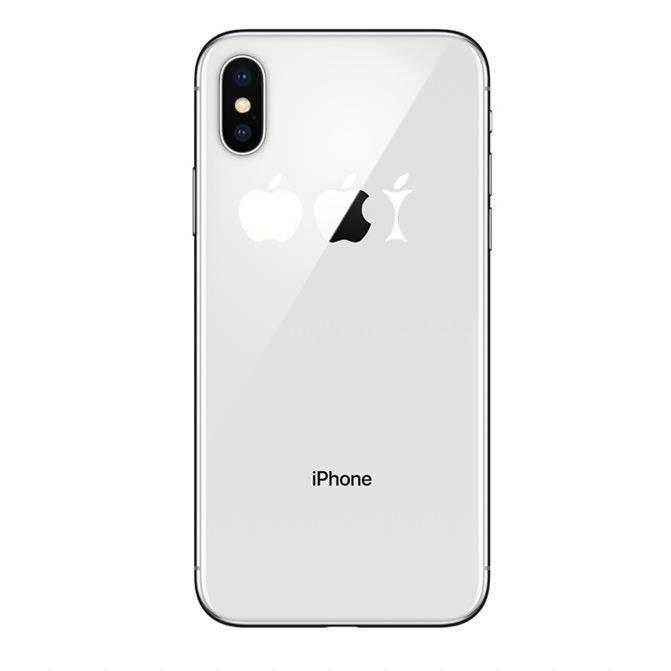Coque Silicone IPHONE X Trognon de Pomme Fun APPLE