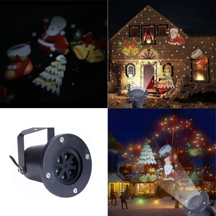 Lumi re laser projecteur de plein air flottants p re no l for Deco lumiere exterieur noel