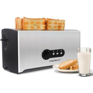GRILLE-PAIN - TOASTER Aigostar Sunshine - Grille-pain 0% BPA, fentes ext