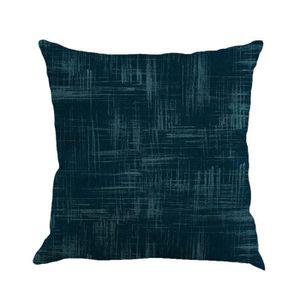 HOUSSE DE COUSSIN Solid Color lin Coussin housse oreiller canapé mai