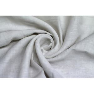 TISSU Tissu Lin Uni Blanc 100% -Au Mètre