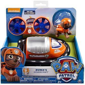 FIGURINE - PERSONNAGE Pat Patrouille : Zuma Et Son Hovercraft Orange Et