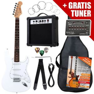 GUITARE Rocktile ST Pack guitare électrique en blanc SET i