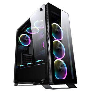 BOITIER PC  Sahara P35 Noir Verre Trempé Mid Tour PC Gaming Ca