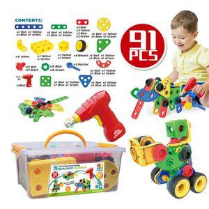 ASSEMBLAGE CONSTRUCTION TSTR® Mosaique Puzzle Enfant 3D Jouet à Visser Con