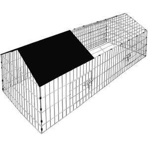 PARC Cage à lapin rongueur Enclos clapier avec pare-sol