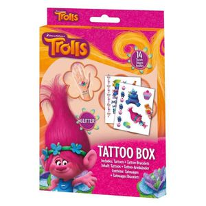 JEU DE TATOUAGE TROLLS Box Tattoos