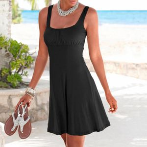 ROBE Womens Casual Beachtime Boho manches courtes robe