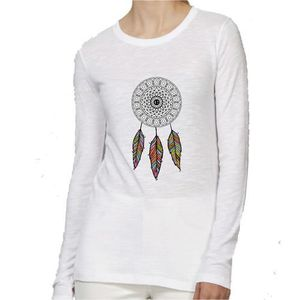 T-SHIRT T-Shirt premium - Manche Longue - Femme - blanc -