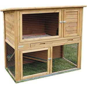 CLAPIER Cage pour rongeurs Browni Beige 115 x 64 x 108 cm