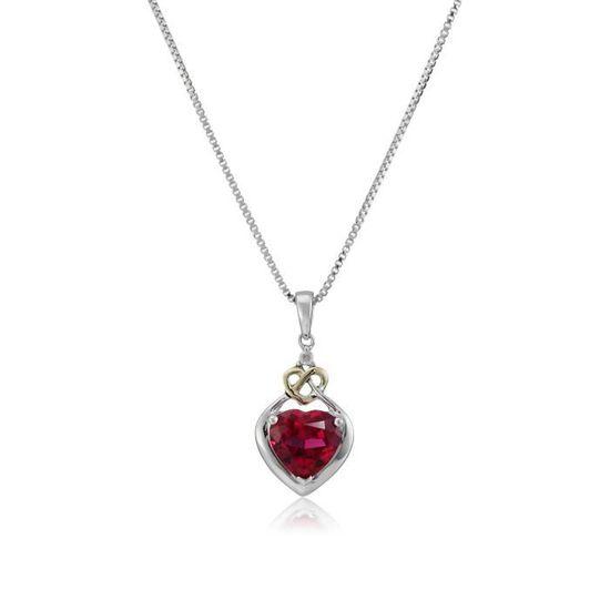 14K Solid or Blanc Coeur Ouvert Avec Diamants Collier Pendentif Chaîne 1.8 G