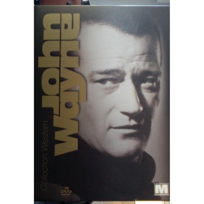 John Wayne 5 DVD -L'amazone aux yeux verts/La Charge héroïque/Le Massacre
