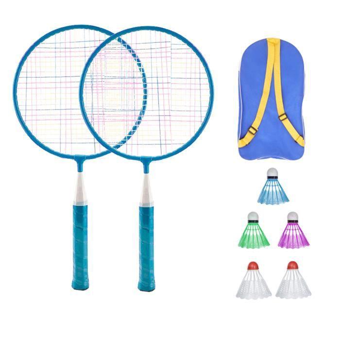 1 Set Raquettes de Badminton Enfants Outil de Formation de Badminton Sports de Plein Air Parent-enfant Jouant Ensemble de Jouets ave