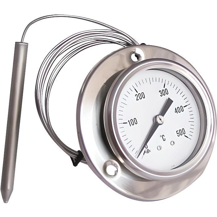 0-500° C Thermomètre pour four barbecue INOX PYROMÈTRE à sonde