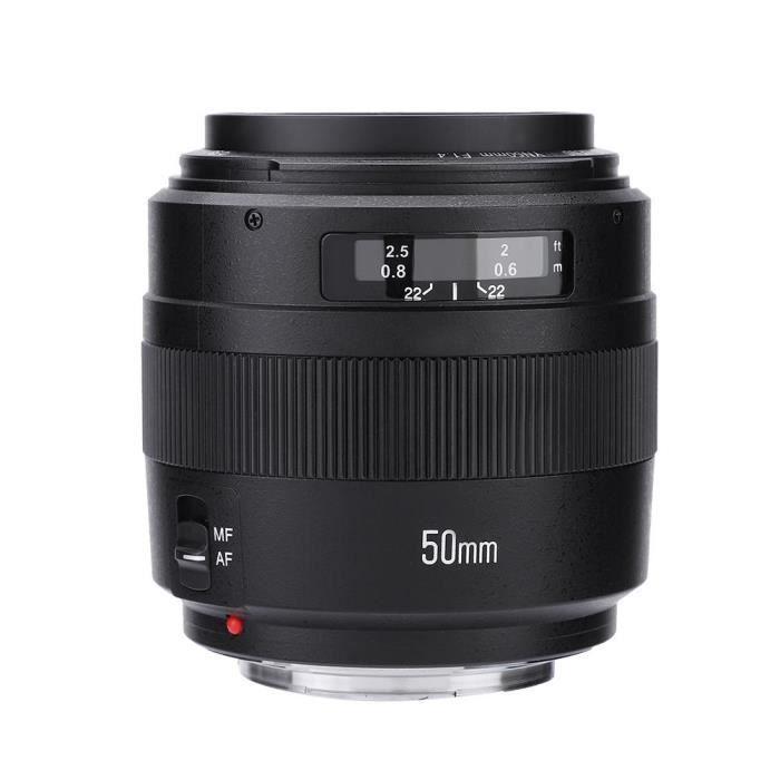 Objectif AF - MF Yongnuo YN-50mm f1.4 à grande ouverture pour appareil photo Canon DSLR---FAC
