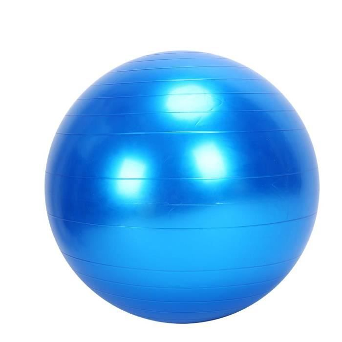 Ballon Suisse Anti-Eclatement Ballon De Gym ballon de yoga 75CM ballon d'équilibre avec Pompe(BLEU)-TAM