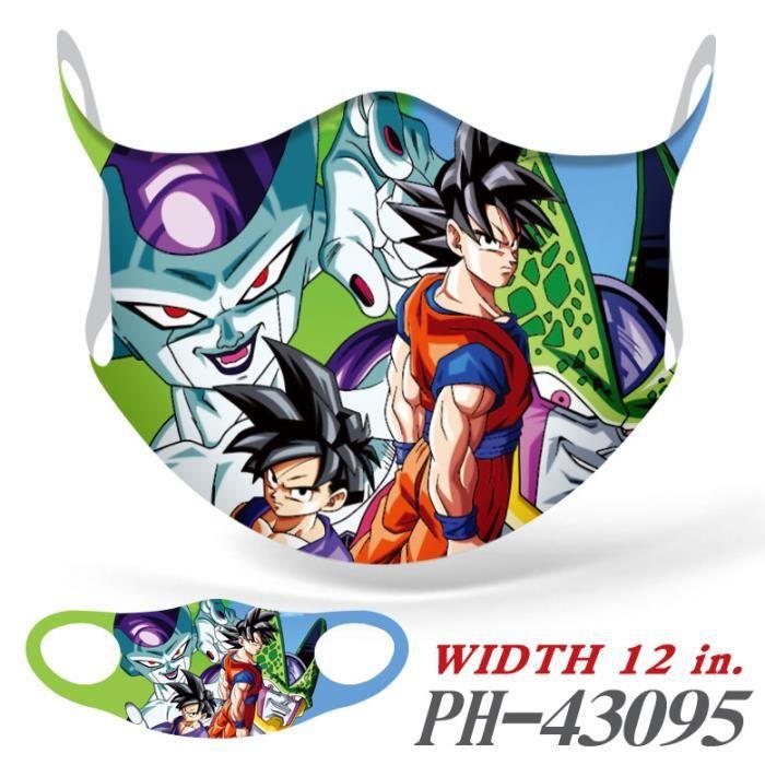 Masque de Sport de Cyclisme en Plein air, adapté à Toutes Les Personnes, Motif de Dessin Dragon Ball