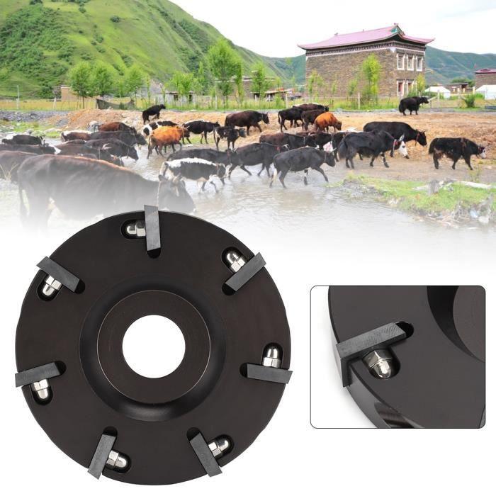 RIN Métal vache bovins sabot coupe coupe bétail mouton pied tondeuse disque plaque avec 7 lames plus nettes(HL-Q7F-II 7 Cutter )