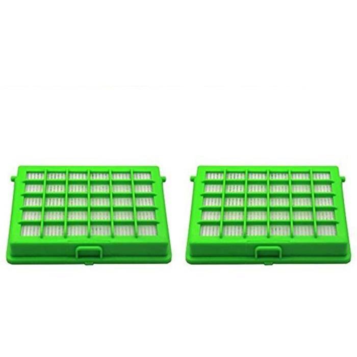 ASPIRATEUR Green Label Lot de 2 Filtres HEPA pour les Aspirateurs Rowenta et Moulinex Compacteo Ergo City Space Accessimo Altern593