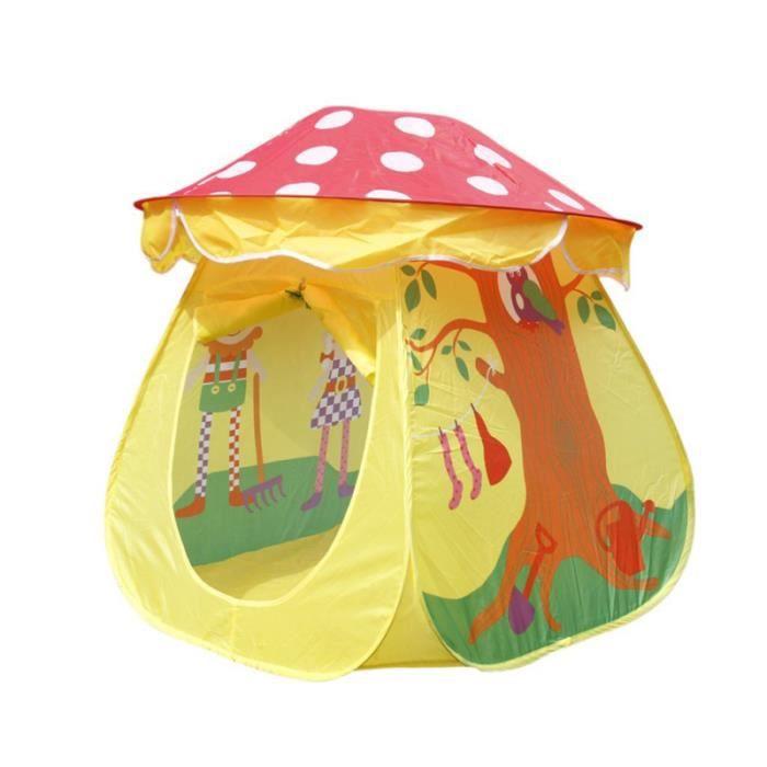 Portable Tene Jouet Enfants Garçons Filles Champignon maison de jeux exterieure - maisonnette jeux de recre - jeux d'exterieur