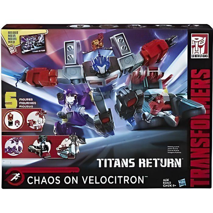 HASBRO Transformers : générations Chaos on Velocitron 5 Figurines +8 ans robot personnages joue jeux