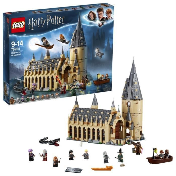 Jeu D'Adresse LEGO 75954 Harry Potter Poudlard Grand Hall Jouet, Monde ensorcelant Fan cadeaux, Ensembles de construction pour les e