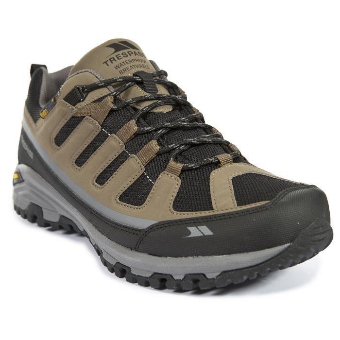 TRESPASS Chaussures de randonnée Cardrona - Homme - Marron et gris