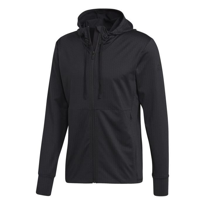 ADIDAS Sweat-shirt Multisport Wo FZ Hoddy - Homme - Noir
