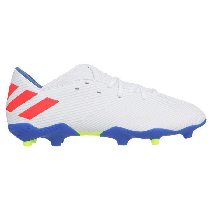 ADIDAS PERFORMANCE Chaussures de Football Nemeziz Messi 19.3 FG J - Enfant - Blanc/Rouge/Bleu