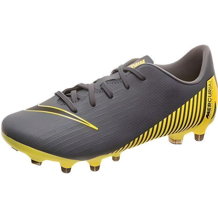 Chaussures de Football Multi-crampons pour Enfants Nike JR Vapor 12 Club Gris