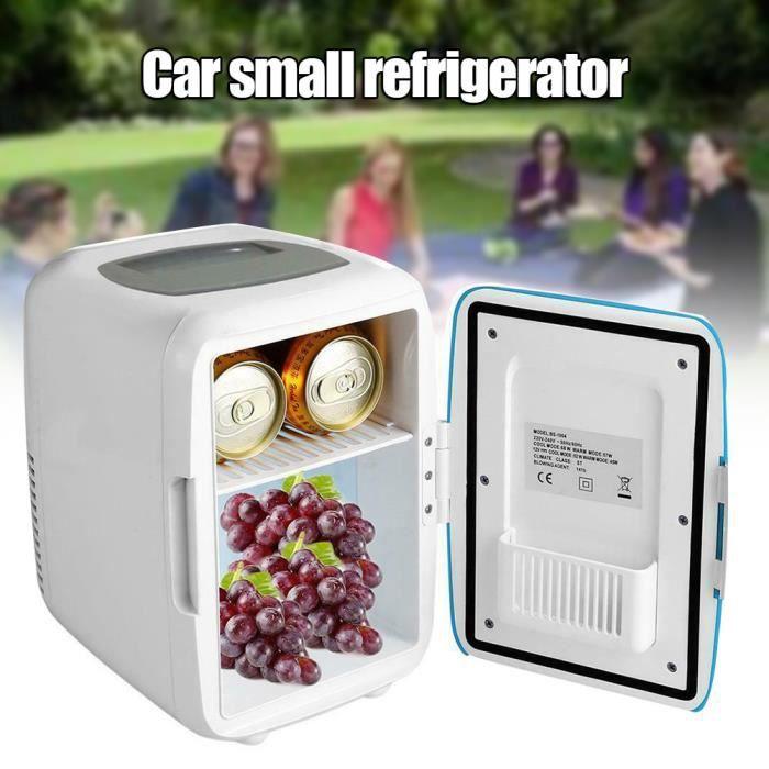 4L Mini Réfrigérateur De Voiture Réfrigérateur Refroidisseur 12V Portable Glacière Réfrigérateur pour Camping Voyage