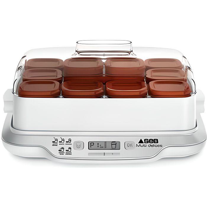 SEB YG661A00 YAOURTIERE MULTIDELICES Capacité : 12 pots. 5 modes différents : yaourts express et yaourts, desserts lactés