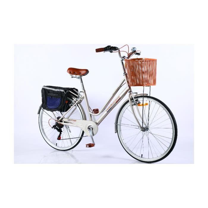 Velobecane Honfleur Vélo de ville Nacre