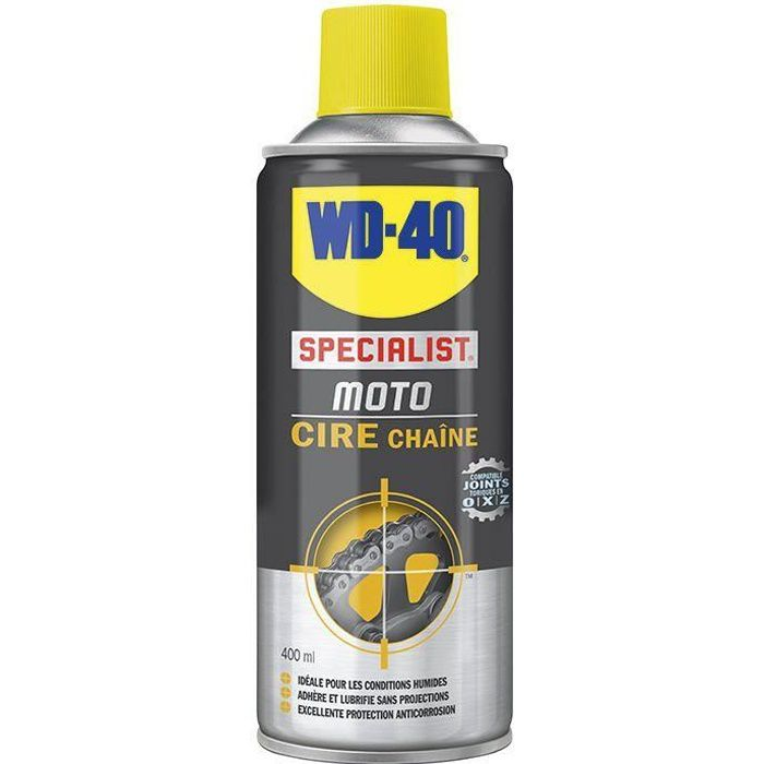 Wd40 moto graisse chaine conditions humides 400ml