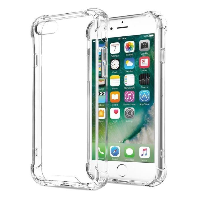 Coque iPhone 6/6S , Silicone Gel Etui Antichoc Housse Pour Apple iPhone 6/6S Transparente Coque de Protection