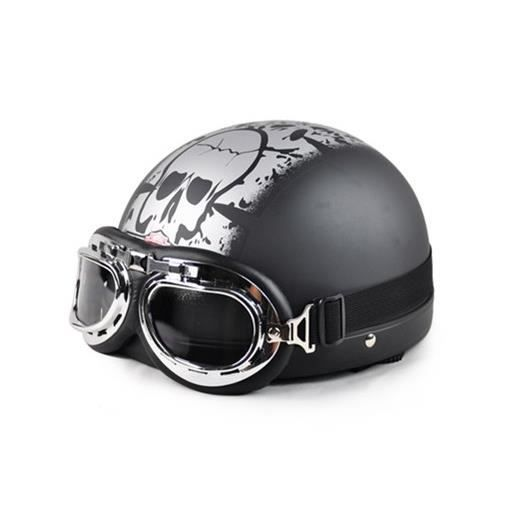 casque bol vintage moto scooter vespa lunettes aviateur achat vente casque. Black Bedroom Furniture Sets. Home Design Ideas