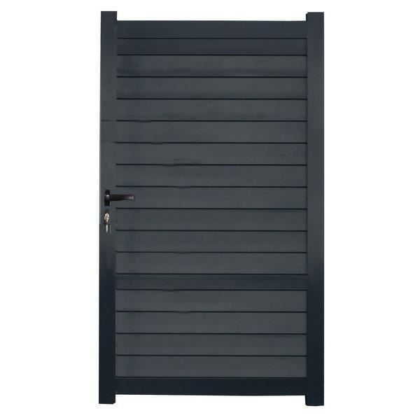Portillon aluminium klemens achat vente for Dimension portillon standard